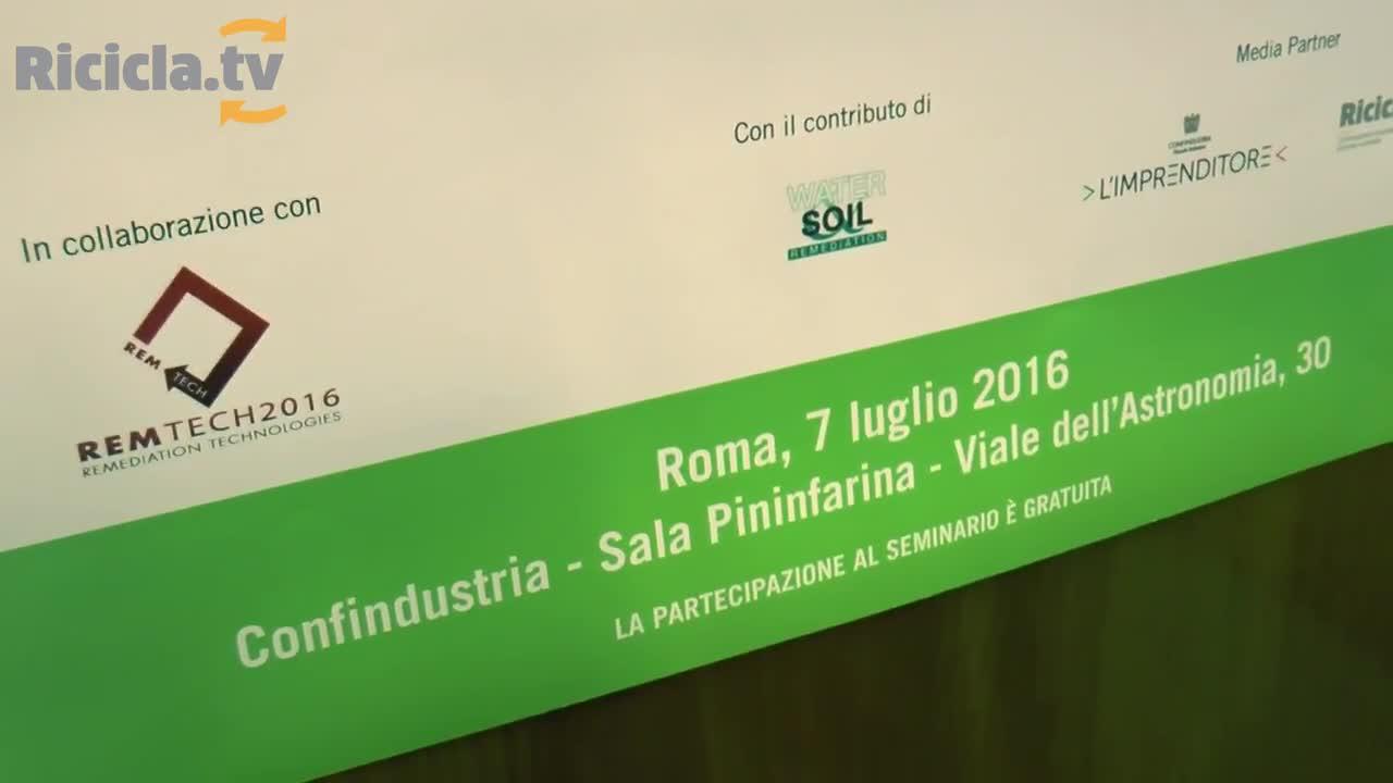 REMTECH, BONIFICHE: CONFINDUSTRIA AL LAVORO SU UN SUO POSITION PAPER
